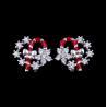 China Exquisite Star Charm Earrings Christmas Wreath Enamel Costume Jewellery wholesale