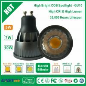 Buy cheap 5W GU10 COB Spotlight (High Bright) - Warm White from wholesalers