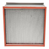 Buy cheap Pharmaceutics High Temperature Hepa Filters Stainless Steel Enclosing Frame from wholesalers