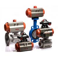 China Single Acting / Double Acting Pneumatic Rotary Actuator Spring Return Orange Color wholesale