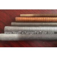 Low Finned pipe Extruded Fin Tube Machine , OD12mm ~ OD 25.4mm
