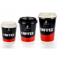 Buy cheap Two Wall Paper Drinking Cup For Cafe Shop , Takeaway Coffee Cups With Lids from wholesalers