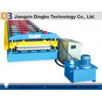 China Galvanized Steel Corrugated Sheet Roll Forming Machine 0.3-0.8 Thickness wholesale