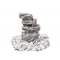Buy cheap Customized Size Outdoor Stone Fountains , Rock Garden Fountain In Grey Color product