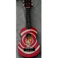 China Red / Yellow Rosewood Bridge 21 inch Hawaii Guitar Ukulele Lollipop Shape wholesale