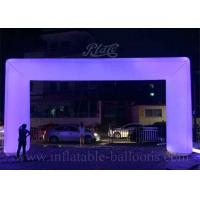China Attractive Sport Inflatable Archway Fire Resistant With LED Changing Light wholesale