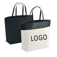 China Customized Logo Printed Gift Bag Bucket Shape Paper Bag With Plastic Handle 250x270x100mm wholesale