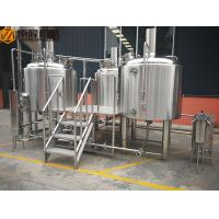 China 10HL Stainless Steel Brewing Equipment Indoor / Outdoor With Mobile CIP System wholesale