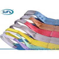 China Low Ductility Lifting Accessories For Cranes Flat Shape Polyester Lifting Belt wholesale