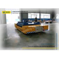 China 21 Ton Yellow Electric Lift Trolley / Hydraulic Platform Lift For Steel Industry on sale