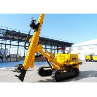 China Crawler Mounted Anchor Drilling Rig With Full Hydraulic Power Head JKM458 wholesale