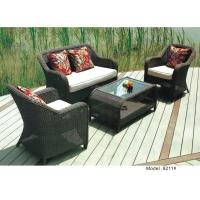 China 4-piece patio outdoor  resin Wicker classic Deep Seat Sofa with Cushion -9211 wholesale