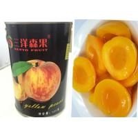 China Custom Organic Canned Freestone Peaches Fruit Brix 14 - 17% Short Lead Time wholesale