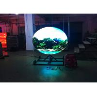 China Lightweight LED Sphere Display All Around 192mm*192mm  With Cooling System wholesale