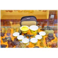 China Purple Clay Yixing Teapot Set With 6 Cups Personalized Home Use Yellow Color wholesale
