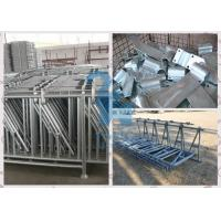 China Galvanized Locking Feed Barriers , Spring Adjustable Cattle Head Lock Agricultural Equipment wholesale