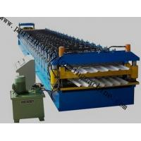 China Color Coated Roof Panel Roll Forming Machine , Roof Tile Forming Machine For Metal Sheet wholesale