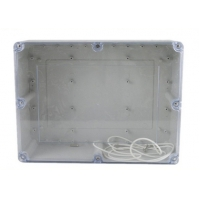 China 263*182*125mm ABS Watertight Clear Lid Enclosures wholesale