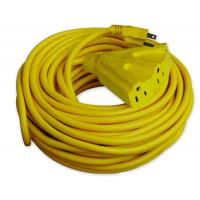 China 2FT/6FT/9FT Yellow PVC/TPE Rubber American Outdoor Electrical Extension Cords wholesale