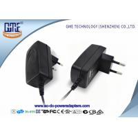 China EU PIN 12V Power Adapter 1.25A Low Ripple 50Hz With Black / White Color wholesale