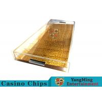China 9 Row Acrylic Casino Chip Tray With High Permeability Plexiglass Plate wholesale