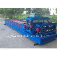 China Corrugated Roof Tile Roll Forming Machine 350H Steel Hydraulic Cutting wholesale