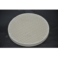 China Round Cordierite Ceramic Heat Resistant Plate For BBQ Stove Grill High Strength wholesale