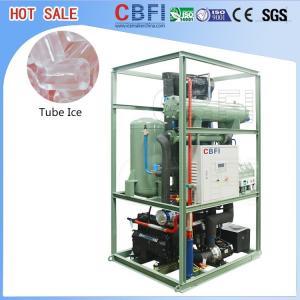 China Energy Saving Ice Tube Machine / Tube Ice Plant Blue Or Yellow Color wholesale