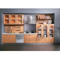 Waterproof Painting Melamine Kitchen Cabinets With Oak Trim , Island Kitchen Units