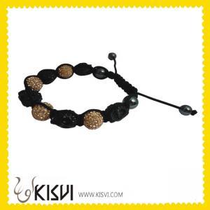 China DIY Low price Shamballa CZ rhinestone beads Crystal Bangle Bracelets wholesale