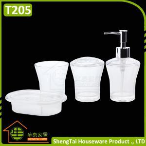 Factory Manufacturer Cheap Price Good Quality White Transparent Plastic Bathroom Accessories Sets