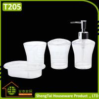 China Factory Manufacturer Cheap Price Good Quality White Transparent Plastic Bathroom Accessories Sets wholesale