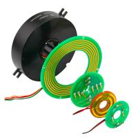 China 2 Circuits 5A Pancake Slip Ring with Precious Metal Contact for Emergency Lighting wholesale