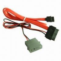 China Serial ATA 7-pin 90-degree Female 30cm Data Cable and XH4-pin Female 30cm Power Supply Cable to SATA wholesale