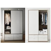 China White Lacquer Bedroom Armoire Wardrobe Closet , European Style Wooden Wardrobe Closet wholesale