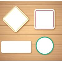 China Self Adhesive Blank Sticker Labels , Customized Blank Mailing Address Labels wholesale