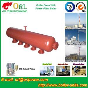 China Water Heat Boiler Mud Drum Anti Wind Single Type , Mud Drum In Boiler wholesale