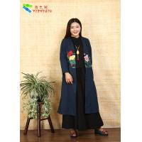 China Adults Casual Chinese Style Winter Coats Embroidered Anti Shrink For Outdoor wholesale