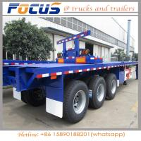 China 2 Axle 45 Feet 40FT  Carbon Steel Flatbed Container Chassis Semi Trailer with ABS Braking wholesale