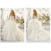 China Applique Tassel Ball Gown Style Wedding Dresses With Crystals Color Optional wholesale