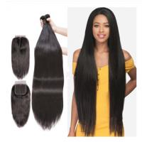 China Unprocessed Peruvian Virgin Human Hair Extensions 40 Inches Silky Straight wholesale