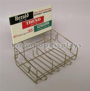 Retail Store Custom Metal Display Racks Tinned Vintage Tobacco Display Rack