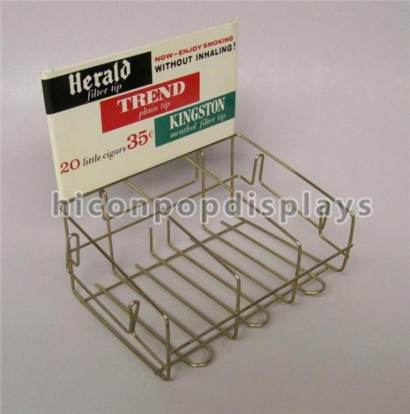 Quality Retail Store Custom Metal Display Racks Tinned Vintage Tobacco Display Rack for sale