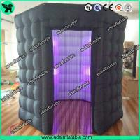 China Popular Oxford Material Square Black Inflatable Photo Booth Inflatable Tent With Led wholesale