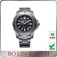 China Fashion Army Style Stainless Steel Military Watches For Men Sapphire Glass on sale