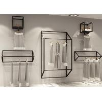 China Customized Size Clothing Display Rack / Garment Wall Display Small And Light Style on sale