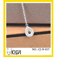 China Competitive price CZ crystal & 925 silver white round handcrafted crystal jewelry wholesale