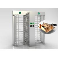 Buy cheap Amusement Parks High Security Dual Full Height Turnstile Gate With Fingerprint Scanner from wholesalers