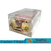 China Acrylic Casino Card Shoe 8 Deck Large Capacity With Bright Metal Lock wholesale