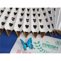 China Customized Spray Booth Pleated Filter Paper Folding For Hardware Painting wholesale